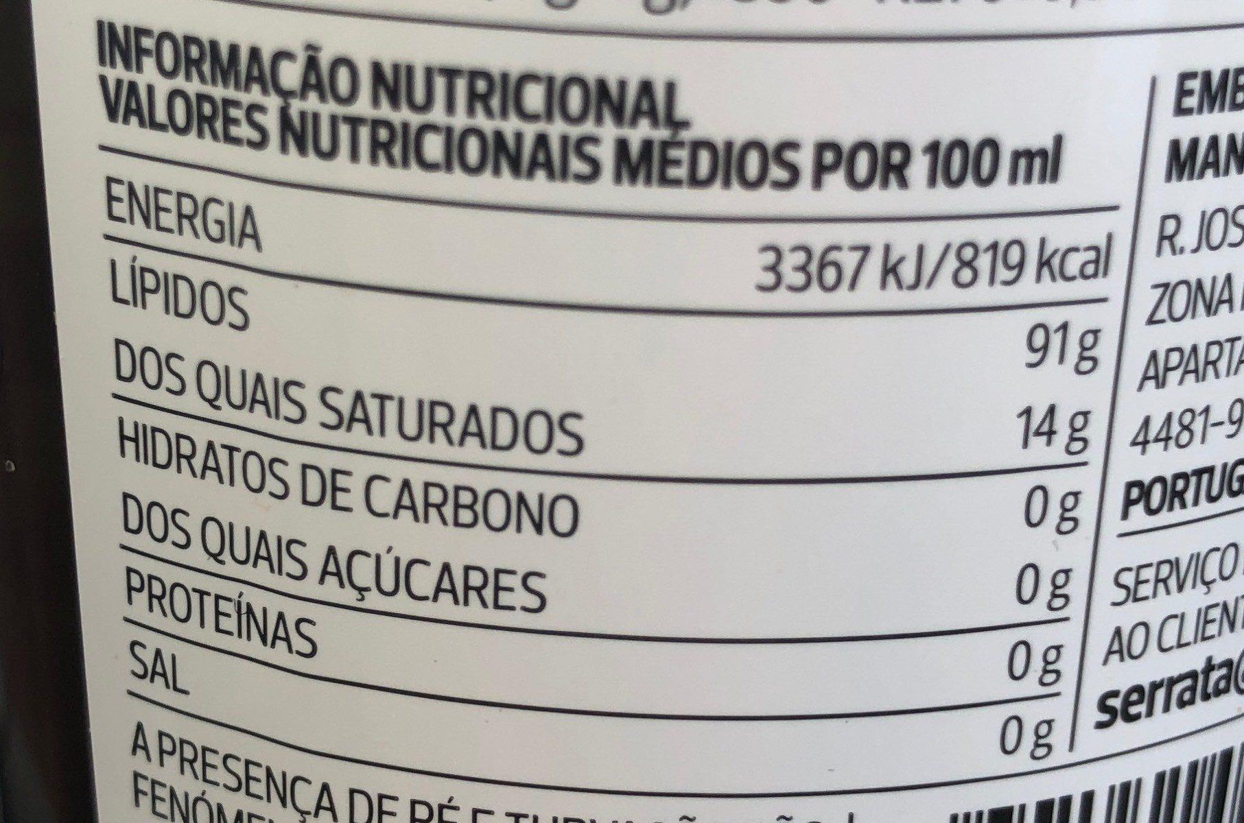 Azeite - Informations nutritionnelles - fr