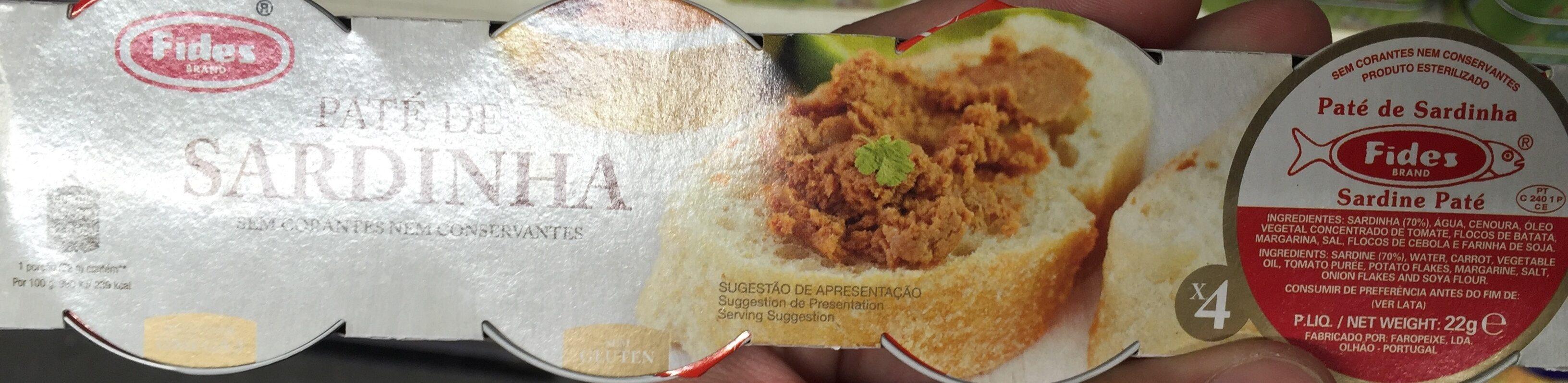 Paté de sardinha - Ingredientes - en