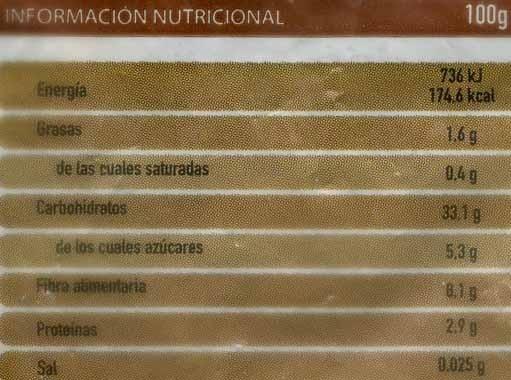 Castañas congeladas - Información nutricional - es