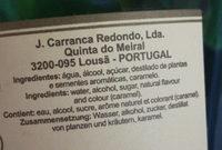 Licor Beirão - Ingrédients