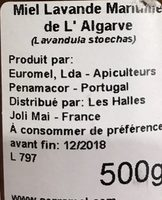 Miel de lavande maritime de l'Algarve - Ingredients - fr