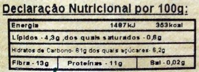 Milho para Pipocas BIO - Nutrition facts