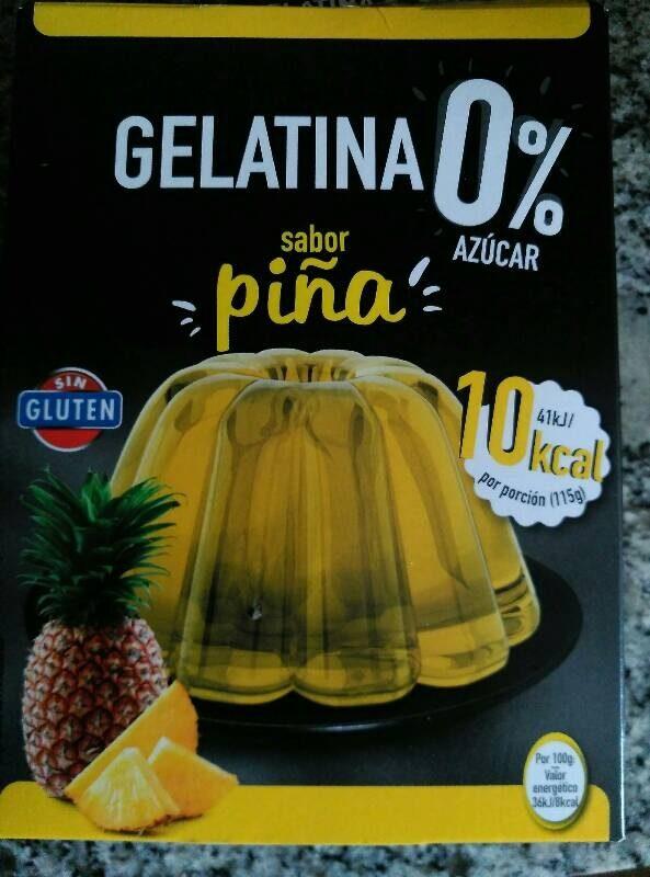 Gelatina 0% sabor piña - Producto