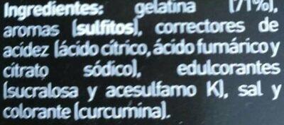 Gelatina 0% sabor piña - Ingredientes