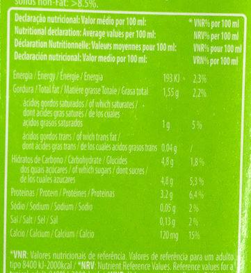 TOM MILK - Informação nutricional