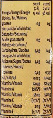 Santal active - Informations nutritionnelles - fr
