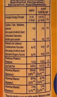 Sumo Santal Active Drink Manga Cen - Informations nutritionnelles - fr
