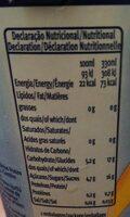 Santal tutti frutti - Informations nutritionnelles - fr