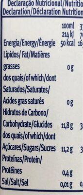 Nectar de peche - Informations nutritionnelles - fr