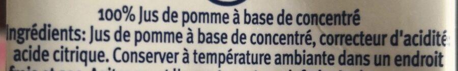 100% pomme - Ingrédients - fr