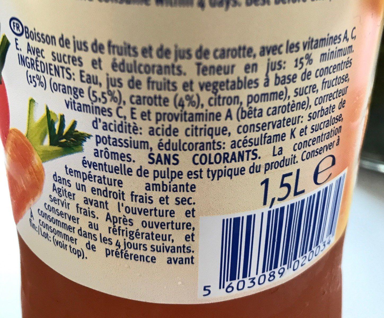 Santal Active Drink - Ingrédients - fr