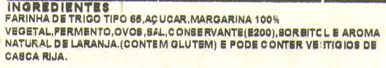 Mimos de Laranja - Ingredients - pt