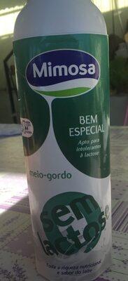Leite Mimosa 0% Lactose Meio Gordo - Product - fr