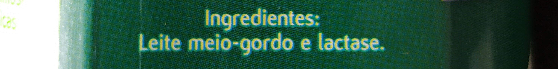 Leite Mimosa 0% Lactose Meio Gordo - Ingrediënten - fr