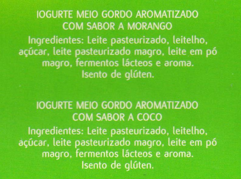 Mimosa aroma morango e coco - Ingredients