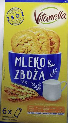 Ciasteczka wielozbożowe z dodatkiem mleka - Produkt - pl