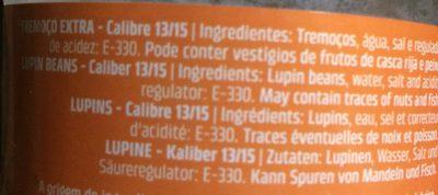 Lupins - Ingrédients