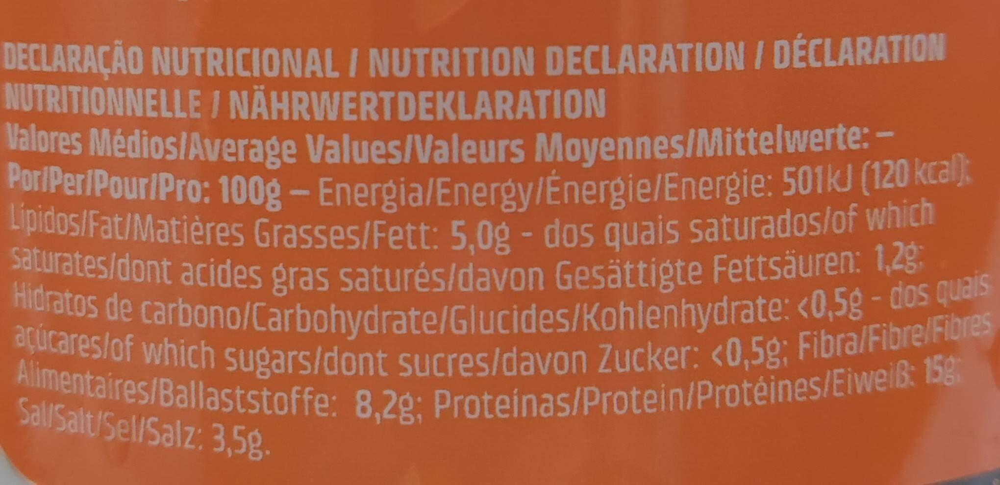 Tremoço extra - Informations nutritionnelles - fr