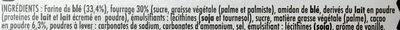 Biscuits Cacaotés Fourrés - Ingredients