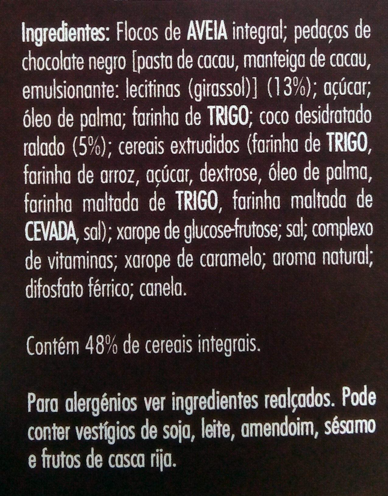 Granola Chocolate e Coco - Ingredients - pt