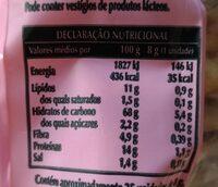 Marinheiras Linhaça - Valori nutrizionali - pt