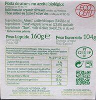 Thon entier à l huile d olive bio - Ingredienti - fr