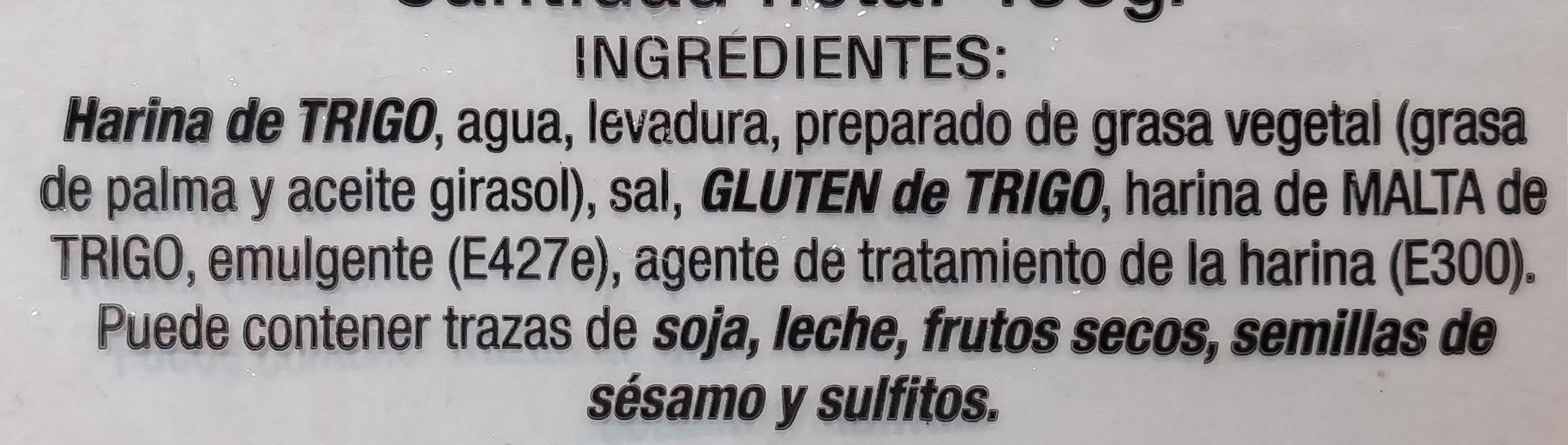 11 panecillos - Ingrediënten - es