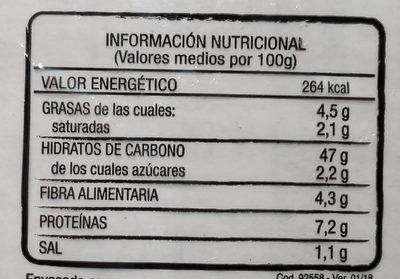 11 panecillos - Voedingswaarden - es