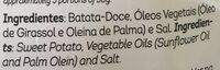 Batata doce frita - Ingredientes - pt