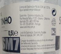 Agua de São Martinho - Ingredients - pt