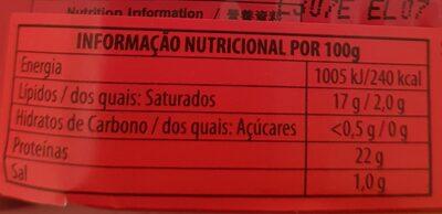 Porthos Sardinha Azeite Condimentos - Voedingswaarden - pt