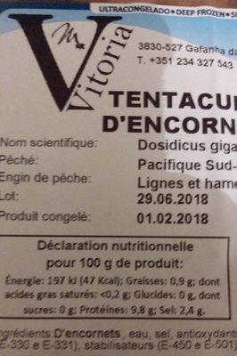 tentacules d encornets - Ingrédients