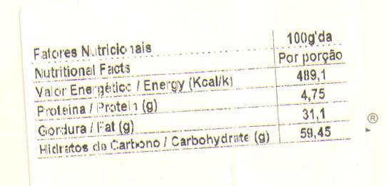 Caneca de Natal - Nutrition facts