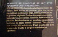 Praliné crème de caramelo - Ingrediënten