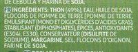 Patê de Atum - Ingrédients - fr
