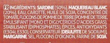 Patê de Sardinha e Cavala - Ingredientes