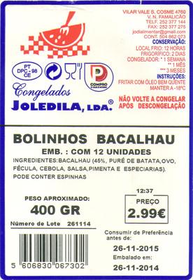 Bolinhos Bacalhau - Product - pt