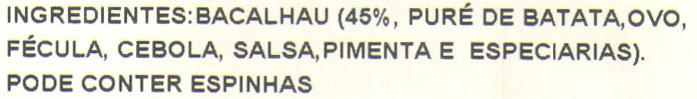Bolinhos Bacalhau - Ingredients - pt
