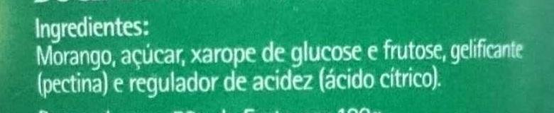 Doce de morango - Ingredients