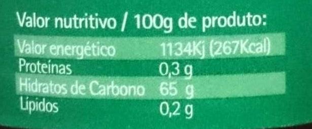 Doce de morango - Nutrition facts