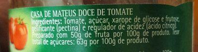 Doce de tomate - Ingredients - en