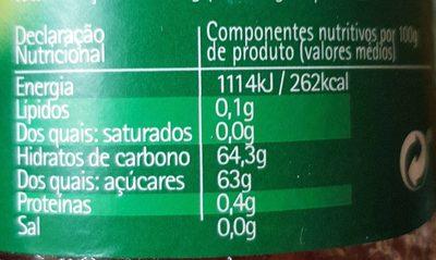 Doce de tomate - Nutrition facts - en