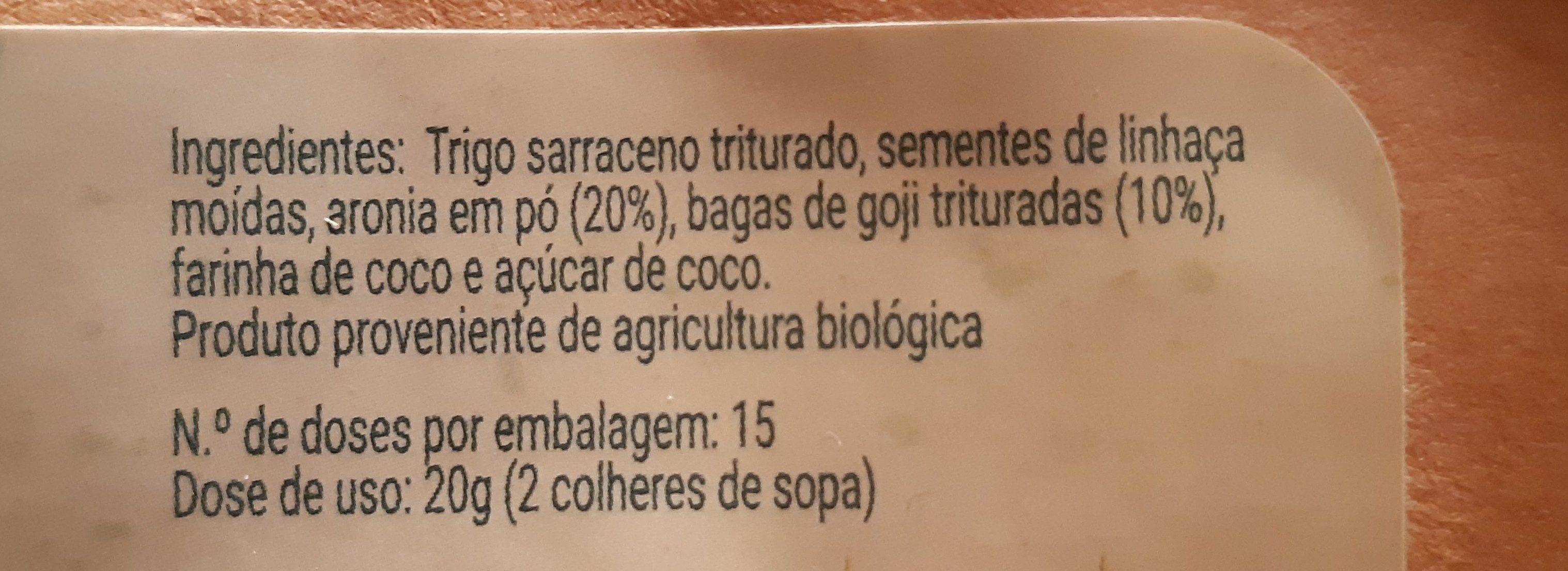 Pequeno Almoço Instantâneo - Vitaminas - Ingrédients
