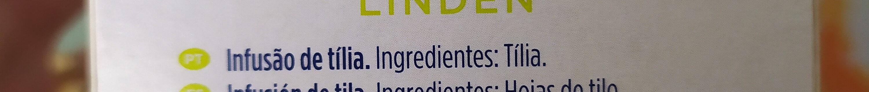 Tília - Infusão de ervaa - Ingrediënten - fr