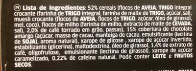 Croffee - Ingrédients - pt