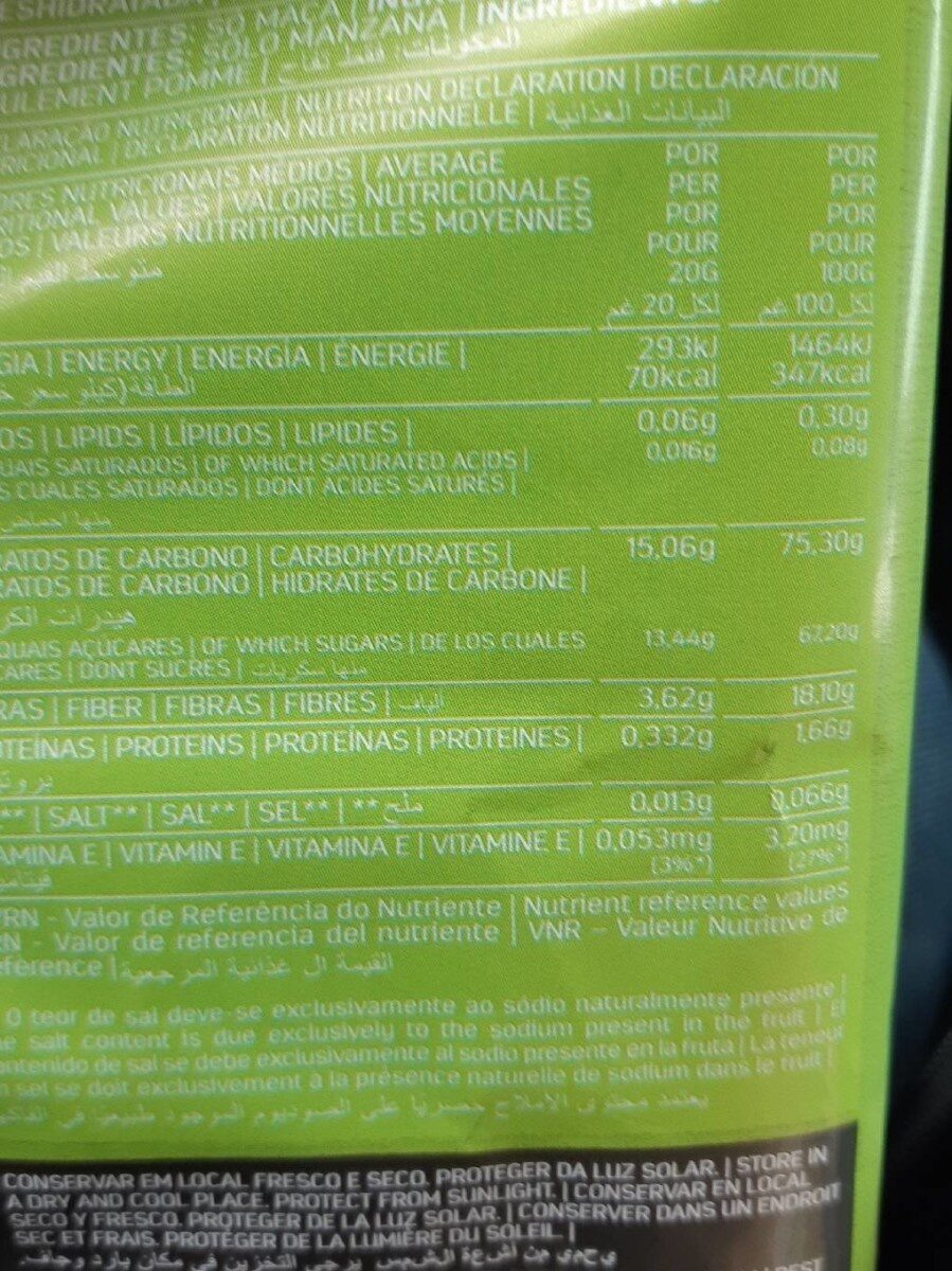 Natural frubis - Informations nutritionnelles - fr