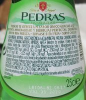 Pedras - Ingredientes