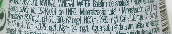 Pedras - Información nutricional - es