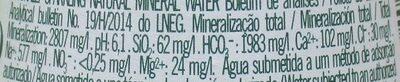 Pedras - Informação nutricional - pt