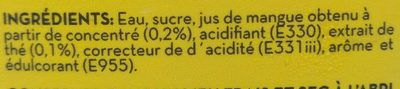 Iced tea Mango - Ingrediënten - fr